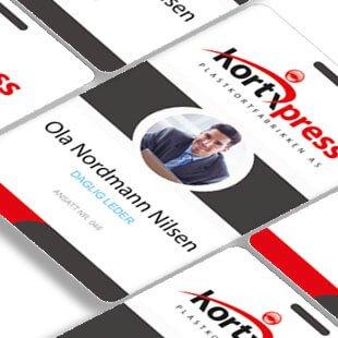 Trykkeri -/ produksjon av ID-kort til alle formål
