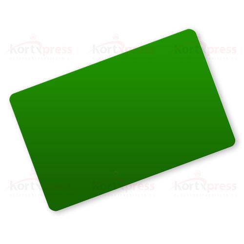 Grønne plastkort uten magnetstripe eller hull