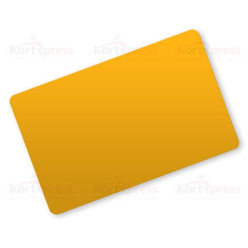 Oransje plastkort
